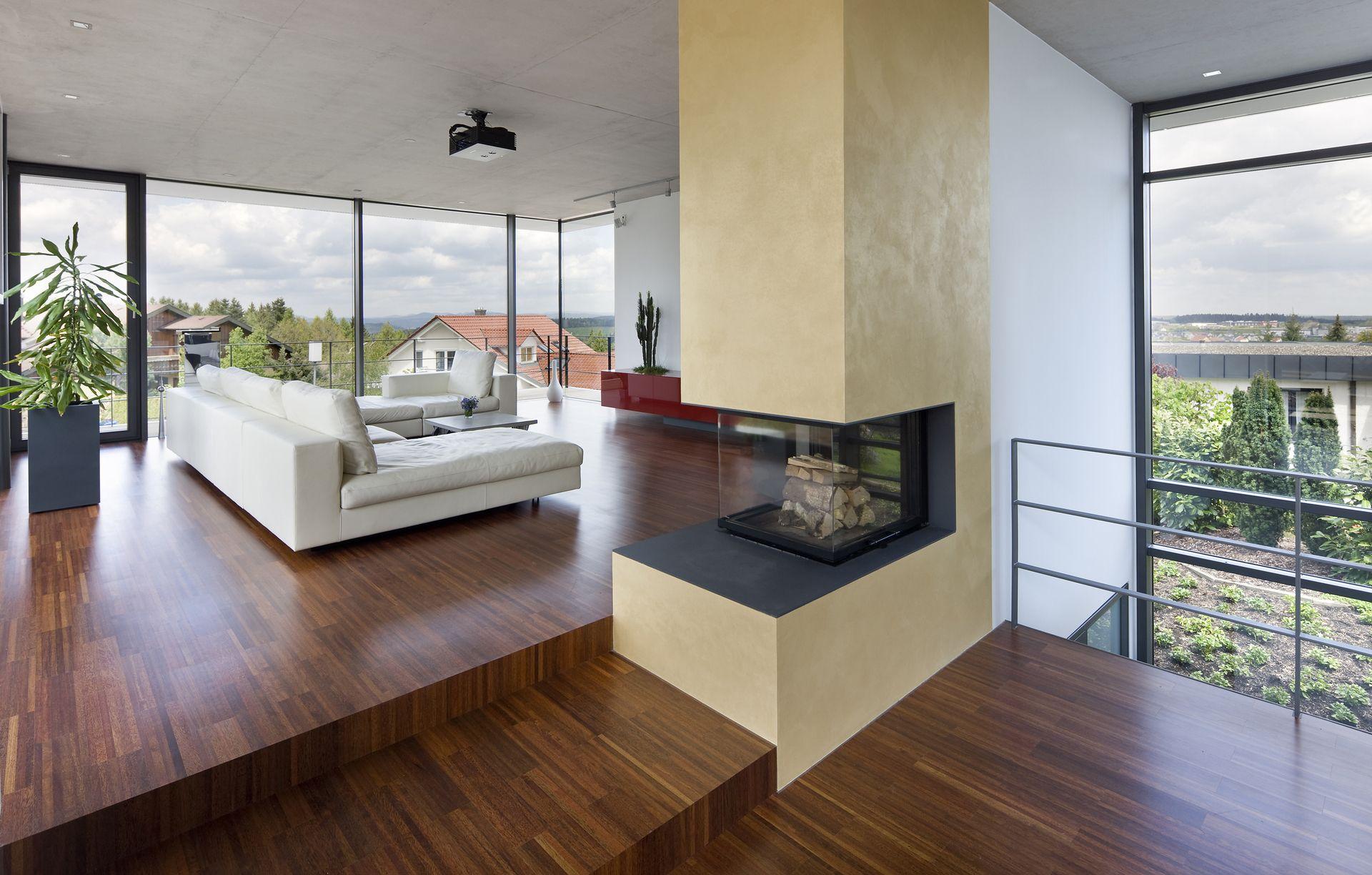 Architektenhaus Innen perfekt angepasst architektenhaus in hanglage bauemotion de