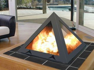 ofen pyramidales feuer. Black Bedroom Furniture Sets. Home Design Ideas