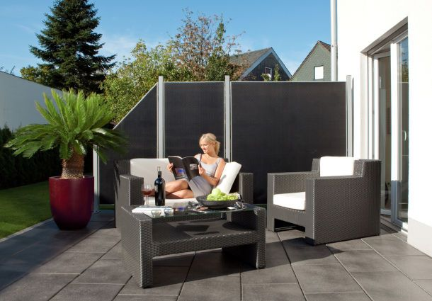 sichtschutz terrasse catlitterplus. Black Bedroom Furniture Sets. Home Design Ideas