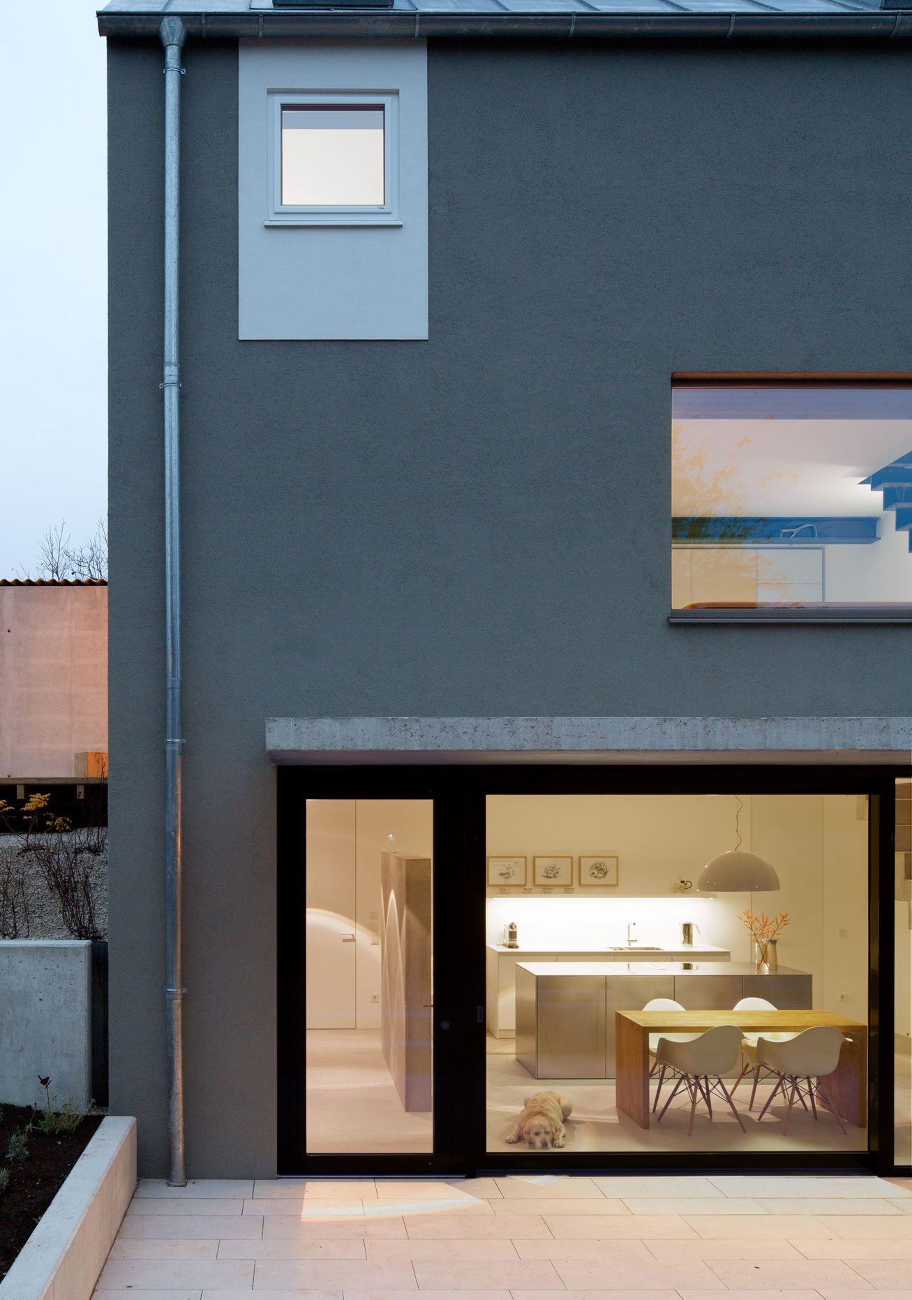 Vordach Beton minimalistische fassade mit beton vordach bauemotion de
