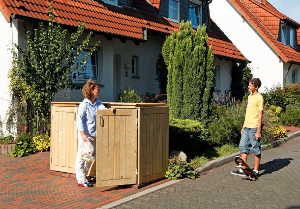 weg damit m lltonnen im vorgarten. Black Bedroom Furniture Sets. Home Design Ideas